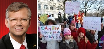 Ralf Hillenberg / Die Kinder bedanken sich bei Herrn Hillenberg